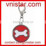 Wholesale Vnistar lobster clasp round shape charm with cute bone for jewelry making TC004 about 25mm