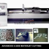 Advanced 4 axis high pressure water jet cutting machine for glass ceramic stone mosaic                                                                         Quality Choice