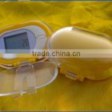 hot selling multifunction nice mini accurate step counter pedometer with cover for promotion