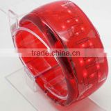 fashion electronic bangle LCD watch colorful unisex plastic digital watch