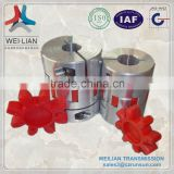 China supplier lowest price 3mm shaft coupler flexible rubber couplings used in bakery machines