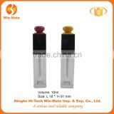 Attention! 2015 new design square clear & black high quality Plastic Lip Gloss Packaging