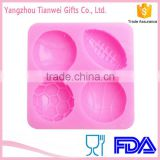 Alibaba China Heat Resistant Ball Cake Molds Silicone
