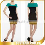 2013 cheap multicolor short sleeve sexy career dresses