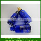 50ml cobalt blue glass bottles with screw cap for personal care,childproof glass pipette dropper