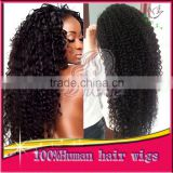 100% Brazilian Human hair Glueless Full Lace Wigs Kinky Curly Lace Front Wigs With Natural Hairline Baby Hair For Black Women