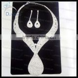 Bling bling tear drop style wedding jewelry set