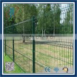 Alibaba China green vinyl pvc coated welded wire mesh fence 2.64mm mesh fence fence post