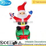 DJ-163 6 foot christmas santa standing gift inflatable garden decoration