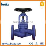 bellows seal flange 1 inch welding stainless steel high quality globe valve