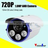 720P 1.0M Analog HD Built-in IR Cut 3pcs Array Leds Module Security Camera Systems