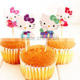 Cute cartoon cake inserted card decoration cupcake card glass decoration