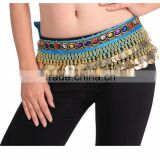 2016 Cheap Belly Dance Hip Belts Belly Dancing Coin Scarves for Women for Sale 14 colors available