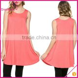 Comfortable and Loose Fitting Sleeveless A-line Blank Western Tunic Designs