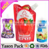 Hot sale Yasonpack stand up foil spout pouches sealed by the cheap ordinary table top heat sealer