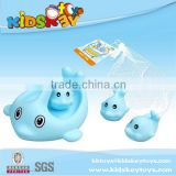 2015 Hot selling bath baby for funny dolphin toy rubber whale bath toy vinyl toy