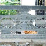 White marble stair railing designs dragon hand carved stone sculpture from Vietnam No 05