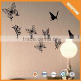 High quality reflective decals butterfly design 3d pvc wall sticker