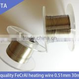 OE-quality annealed resistance heating wire/FeCrAl alloy heating wire/resistant heat wire A1