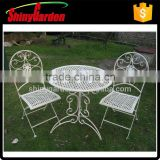 white bistro set, metal mesh chair outdoor, bistro dining set ,cast iron bistro set                                                                         Quality Choice