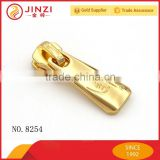 Shiny high quality zipper pullers with personal logo for bags accessories                                                                                                         Supplier's Choice