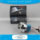 New 2inch 12V motorcycle auto parts projector lens with led angel eyes,halo motorbike headlight