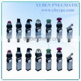 Control push button valve flush air valve