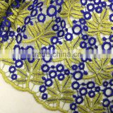 High quality beaded embroidery guipure lace fabric cord lace fabrics for bridal wedding dress                                                                                                         Supplier's Choice