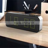 Hot New Products For 2015 USA New Design Wireless Metal Portable Bluetooth Speaker Alarm Clock