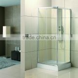 aluminum frame square sliding door shower enclosure