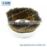 Brass Coated Steel Wire Cup Brush, Customized Cup Brush, Diameter 90 mm