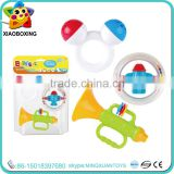 New Promotional baby bottle set hand bell rattle toys for sale