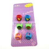 Rubber charms wholesales cheap made custom made plastic ring