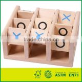 EN71/ ASTIM/CE Tic Tac Toe Wooden Board Game