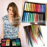 Top selling 6/12/24/36 colors per set Temporary Color Hair Chalk In Gift Tin Ready colorful hair colour chalk