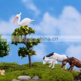 Cake topper Decorating Handmade Craft resin horse small animal ceramic figurines wholesale