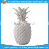 handmade Hotsale ceramic figurines unpainted pineapple for promotion