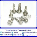 Stainless steel Self-drilling and tapping screws with Hexalobular socket pan/ countersunk/ raised countersunk head