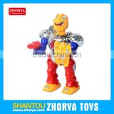 Best selling 2016 PVC BO robot battery operated robot toy robot toy with sound and light