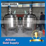Professional Manufacturer PLC control 6000L electric heating stainless steel chemical reactor