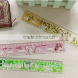 18cm plastic student ruler / carton kids ruler / high quality colorful ruler