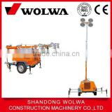 4 lamp 1000w mobile light tower with tire wheel