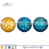 hand blown colored stained glass ball geometric glass terrarium wholesale