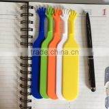 Fancy promotional silicone bookmark,hand shaped bookmark for reading