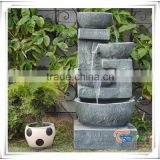 Wholesale bowl stone led artificial waterfall lighting fountain