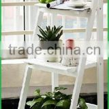top quality folding wood ladder shelf,wooden rack shelf ,display ladder shelf