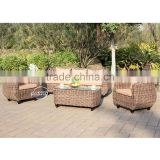 Derong outdoor furniture factory price garden outdoor PE rattan sofa set contract OEM/ODM wicker sofa set