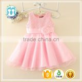 Best selling India and Pakistan Clothing child Pink Flower wedding dress vintage sweet girl party dresses
