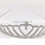2017 New Crown Crystal Gold Bridal Wedding Hair Comb Accessories Headdress