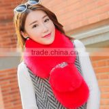 cheap price 2017 new year new model girl fur scarf faux wool 95*12cm fashional style young ladies shawl